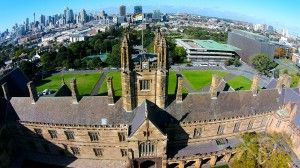 Take a tour of Australia's first and most prestigious university from up above.