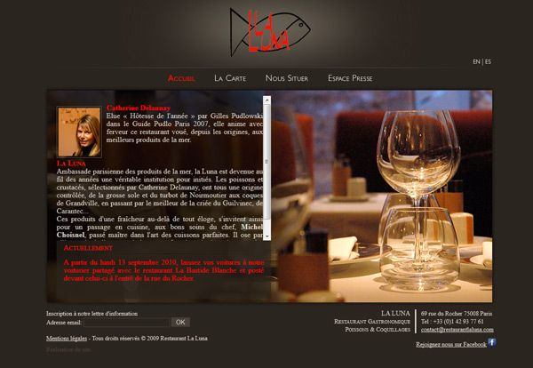 Ideas creativas ejemplos HACER crear diseño PAGINA WEB RESTAURANTE alta cocina