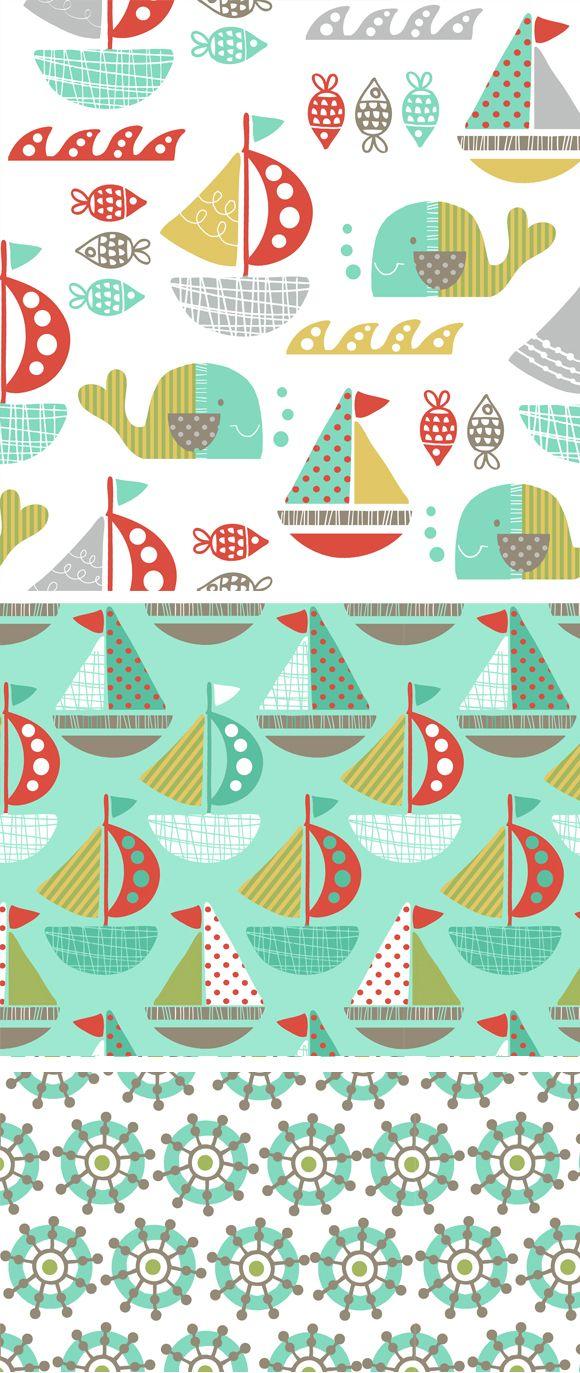 wendy kendall designs – freelance surface pattern designer » set sail