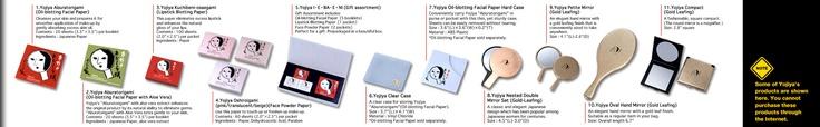 http://www.yojiya.co.jp/english/index.html    Yojiya blotting paper