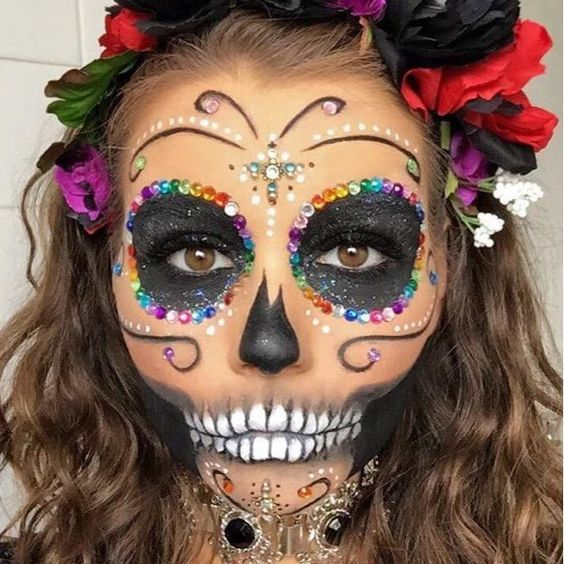 Halloween makeup for your halloween party. Fab isn't it? Like it? http://www.wickedbeauty.com.au/ #makeup #halloweeninspired #halloweenmakeup #creativemakeup #scary #fab #makeupoftheday