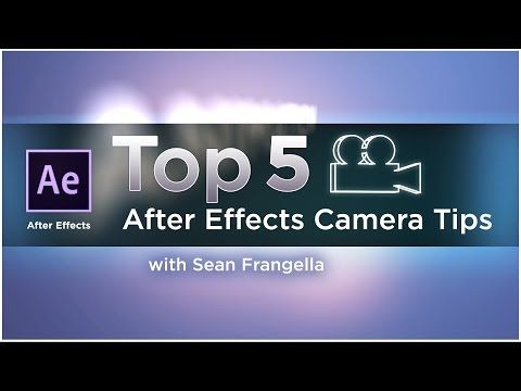 Top 5 After Effects 3D Camera Tips to create better camera animation - motion graphics tutorial - YouTube