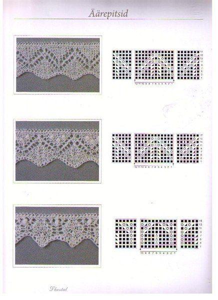 Схемы-ажур для шалей, свиторов, кофточек, носков... / Вязание спицами / Вязание для женщин спицами. Схемы