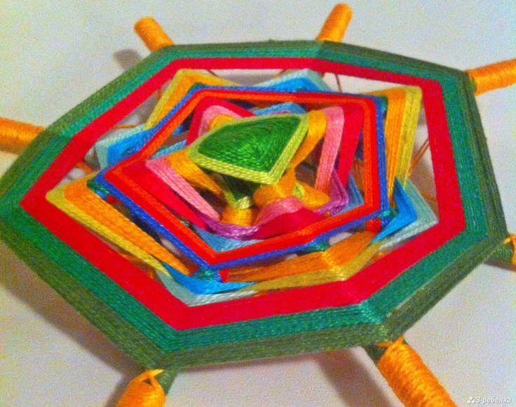 Плетение мандалы из ниток