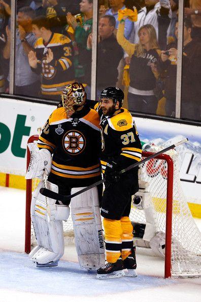 Patrice Bergeron Boston Bruins hockey Tuuka Rask