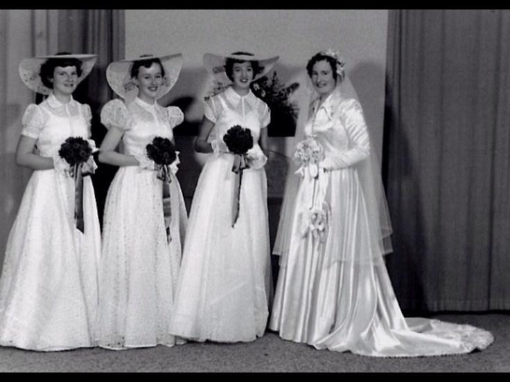 Bridal Party  Joan  Helen sister in law  Faye sister Ann cousin