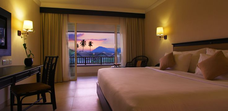 Beauty scenery from Deluxe Sea View with private balcony. Grand Luley Resort