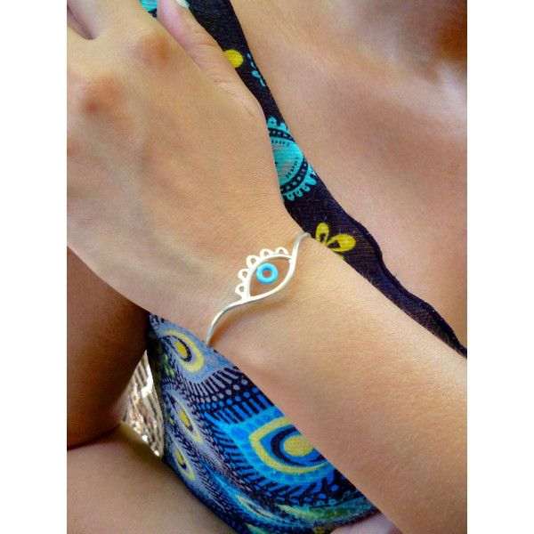 Evil Eye Bracelet Evil Eye Bangle Evil Eye Jewelry Gold featuring polyvore