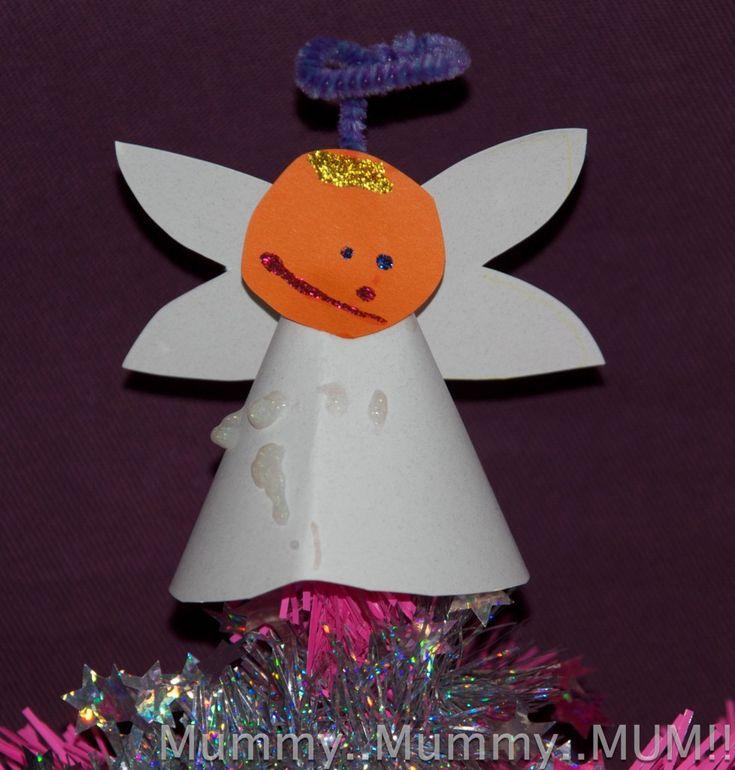 Such a sweet paper Christmas angel from @mummymummymum