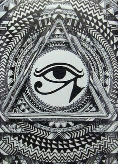 Egyptian Eye Back Pieces All Seeing Occult Art Symbol Tattoo Tantra Tarot Symbols Spirituality
