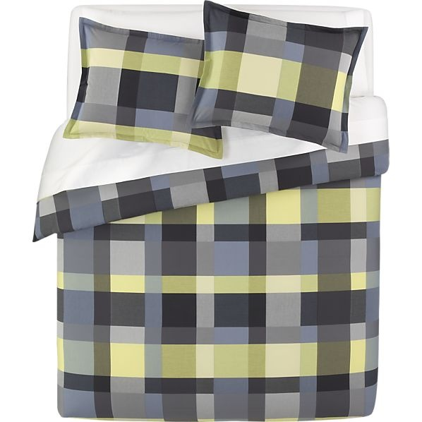 Ashton bed linens in duvet covers crate and barrel for for Crate barrel comforter