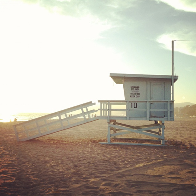 Lifeguard Post, Santa Monica Beach, California
