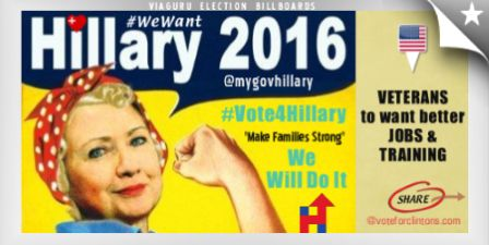 "Vote for Hillary Clinton - Pinterest Campaign for #Hillary2016 - (Hillary Clinton #Vote4Hillary #Veterans to want more Training Jobs in #NewYork) has just been liked on Hillary Clinton Potus 2016 @ViaGuru Politics Created by Vikas Gulaty on Pininterest  [cnhk_slideshow id=77128] WATCH VIDEOS - VOTE FOR HILLARY CLINTON 2016 #VOTE4HILLARY ELECTIONS [youtuberesponsive listtype=""custom"" listvalue=""7-9LS4KXtEg,ExXjQYugtQM,kvOusLAWn9E,QfwhI5N95y8,Twn5vNSci2E,SZW4ZYb1hfE,g3Eyx94g"