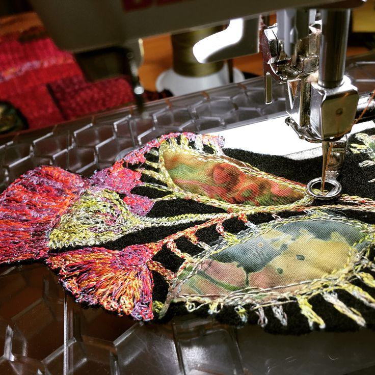Gordana Brelih, free motion stitching