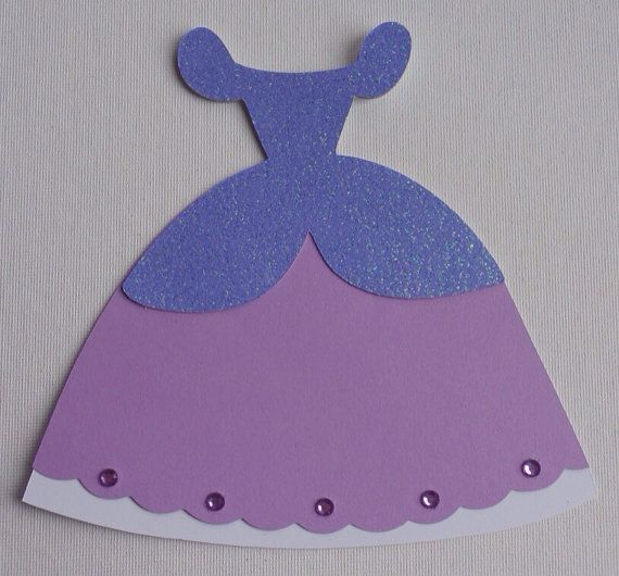 Sofia the first inspired dress invitations/ princess dress ...