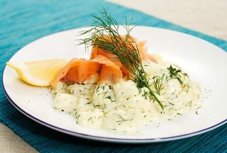 Rimmad lax med dillstuvad potatis | Recept.nu