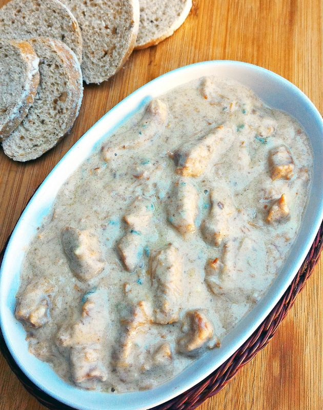 Carne com molho de gorgonzola (aperitivo ou molho para massa)