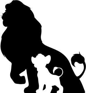 SVG file for silhouette cameo. Lion King