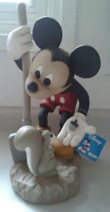 "$100.00 - Disney Mickey Mouse Figurine Garden Ornament Oshawa / Durham Region Toronto (GTA) - Henri Studio Inc resin Disney Mickey Mouse Garden ornament , Mickey feeding the squirrel an acorn 16"" H x 10"" D x 7"" L."