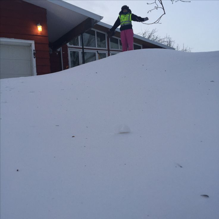 Shovelling the driveway
