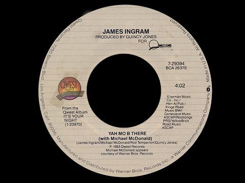 "James Ingram with Michael Mc Donald ""Yah Mo B There 1983 Funky Purrfection Version"""