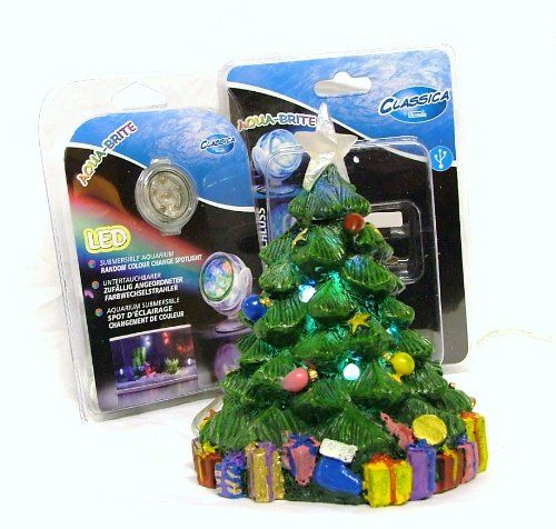 Christmas fish tank decorations google search fish for Aquarium christmas tree decoration