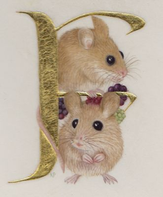 F Is for Fieldmice - Kathy Pickles. Repinned by www.mygrowingtraditions.com