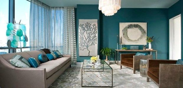 Dramatic Living Room Colors