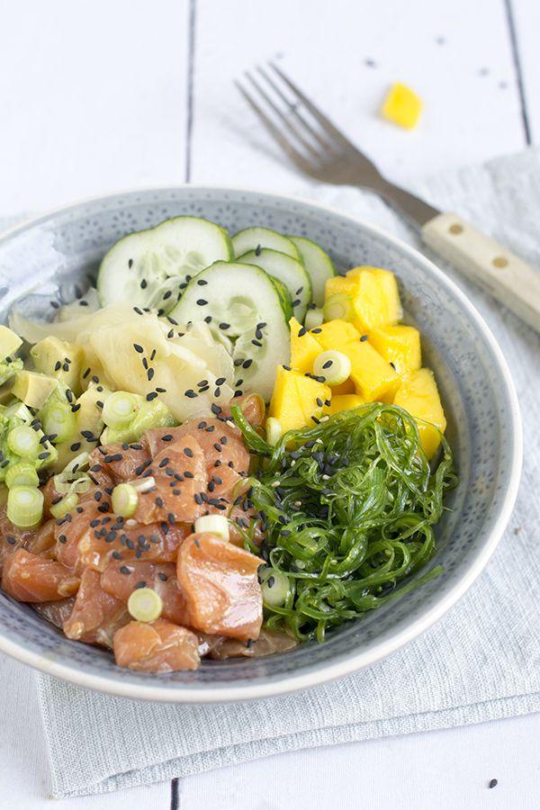 poke-bowl-met-zalm-en-mango