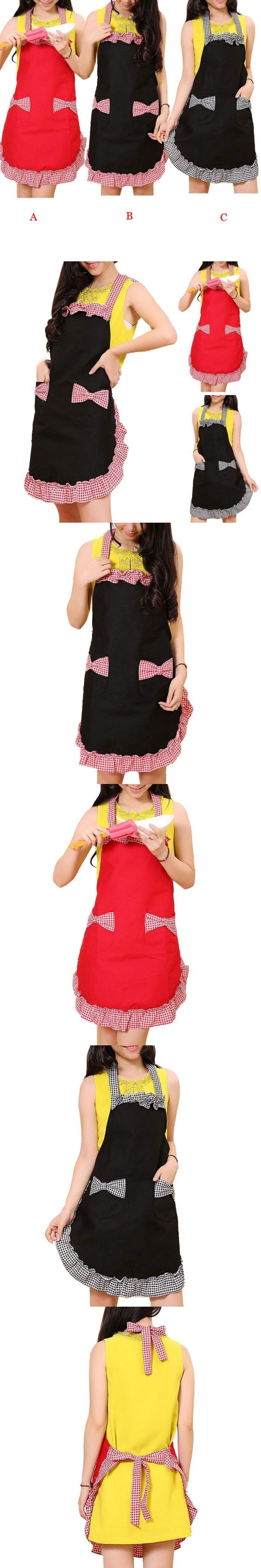 fashion kitchen apron 3 colors ruffled aprons cute aprons for women avental de cozinha divertido #9358