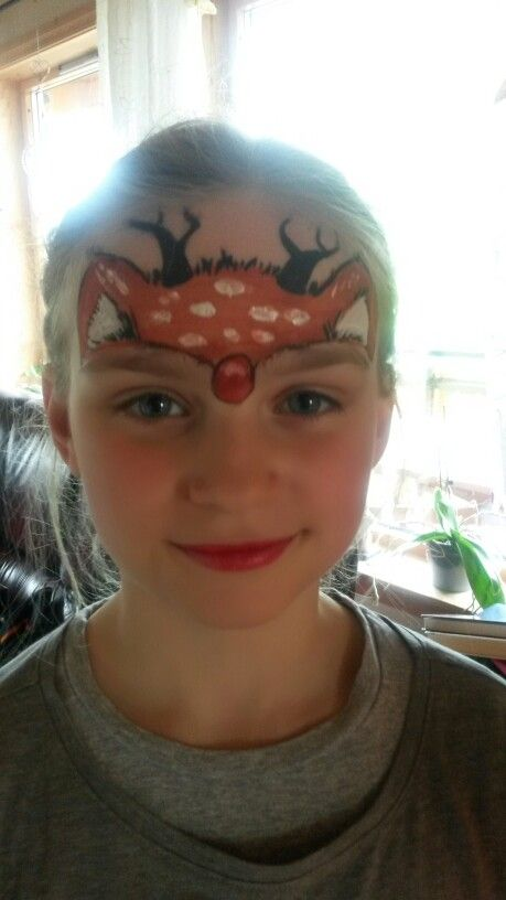 Rudolph facepainting kids