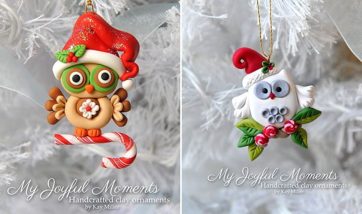 Новый год на Sees-All-Colors: Елочные игрушки из полимерной глины Kay Miller