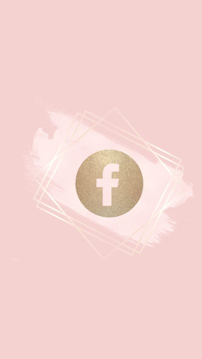 Facebook Logo Gold Facebook Facebook Rose Gold Icon Rose Gold Logo