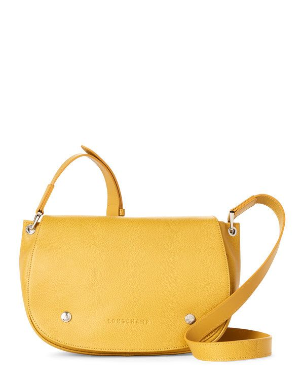 LONGCHAMP Mimosa Le Foulonne Leather Saddle Bag 26d3a95d5b57b