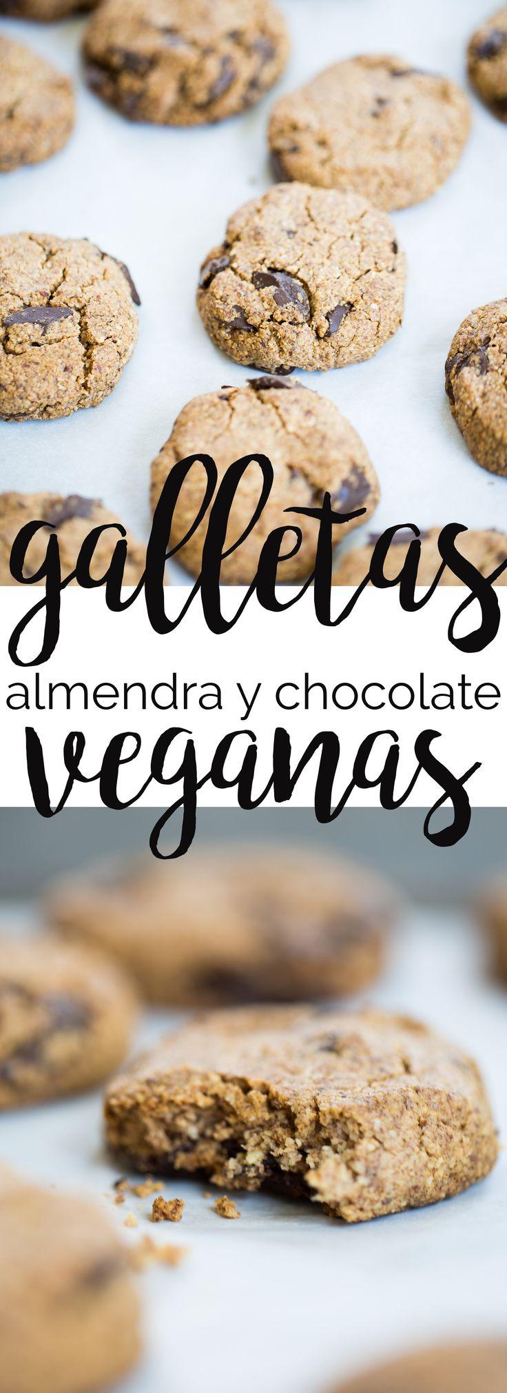 Esta es la receta más rica y fácil que puede haber para hacer galletas veganas de chocochip. Esta receta lleva sólo 4 ingredientes.