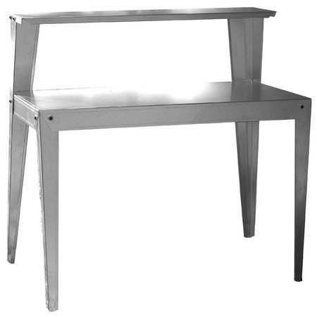 Found it at Wayfair - Multi Use Galvanized Steel Top Workbench http://www.wayfair.com/daily-sales/p/Outdoor-Organization-Multi-Use-Galvanized-Steel-Top-Workbench~BUF1678~E16244.html?refid=SBP.rBAZEVS170lMGnWzs6hJAsMKKZq2oEOgt6MK4vn8Wxg