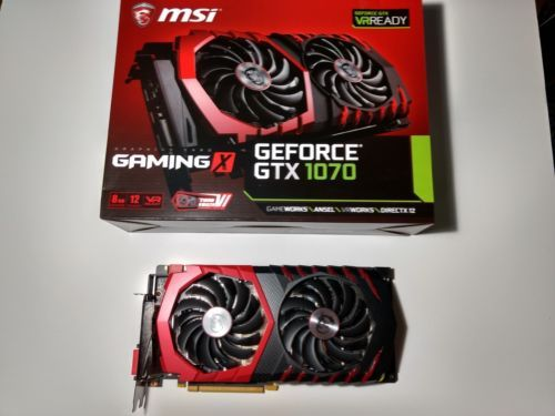 Details about MSI GeForce GTX 1070 GAMING X 8G Video Card