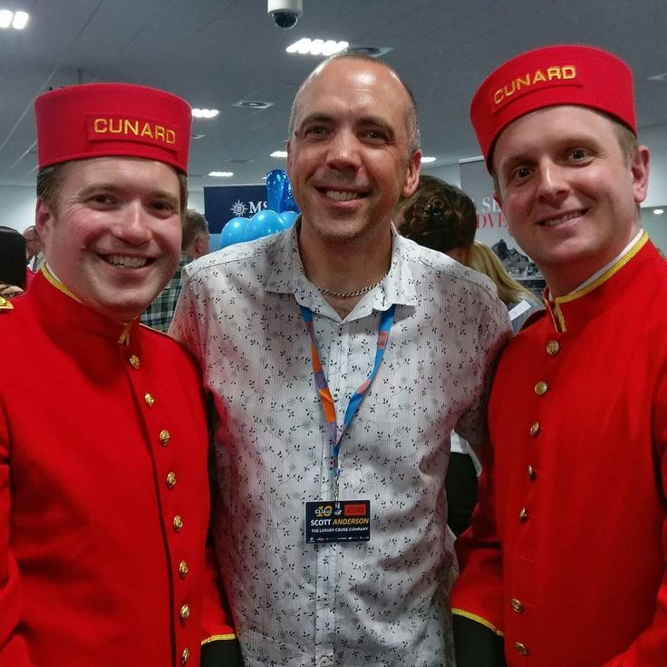 Me and a couple of  bellboys from Cunard! #cruise #cruiserevolution @Cunard #cunard  #travel