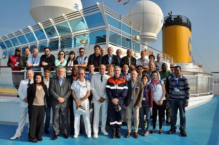 2014 A bordo di Costa Luminosa i funzionari dell'ILO, l'Organizzazione Internazionale del Lavoro delle Nazioni Unite