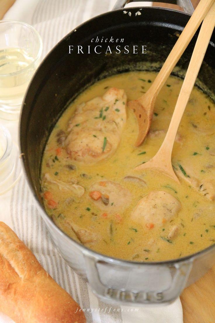 Jenny Steffens Hobick: Chicken Fricassee | Carrots, Mushrooms, Tarragon in White Wine Creamy Stew