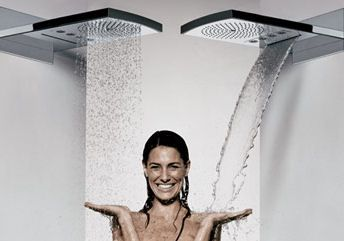 The new Hansgrohe Raindance Rainfall shower head manages to provide a variety of choices within a single slim streamlined fixture. Reaching out from a discreet wallplate, the Raindance Rainfall...