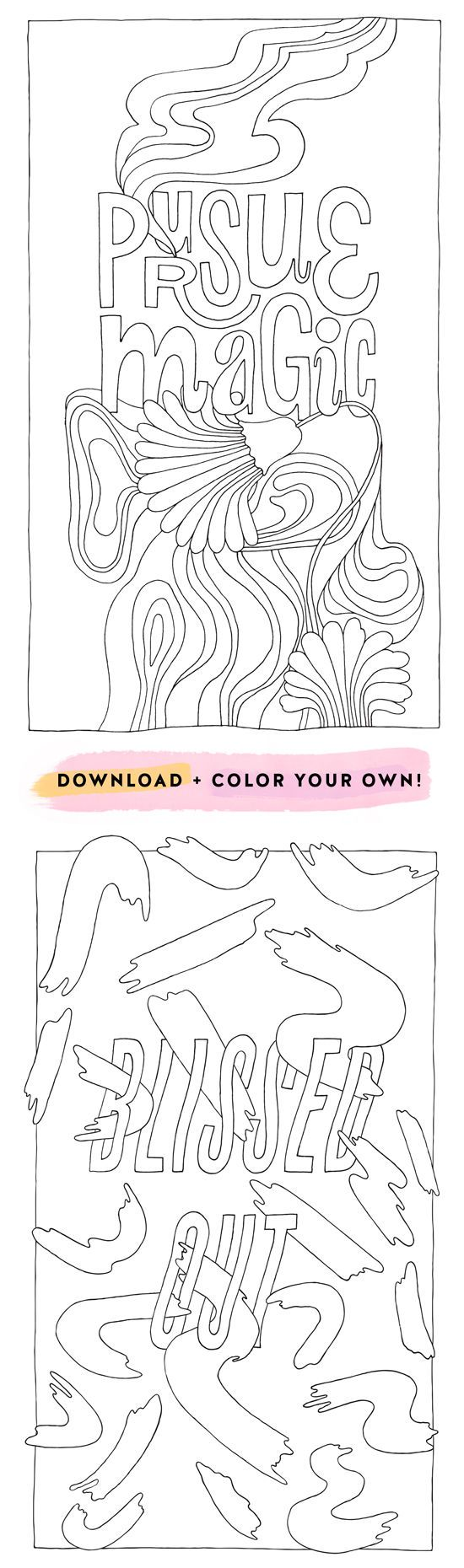 Stress less coloring by the shore - Coloring Posters Pt 1