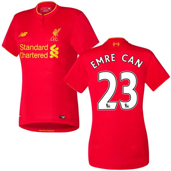 Emre Can Liverpool FC New Balance Women's 2016 Replica Home Jersey - Red - $99.99