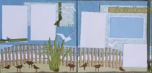 A scrapbook layout for your beach photos by Lilly Pad Pages