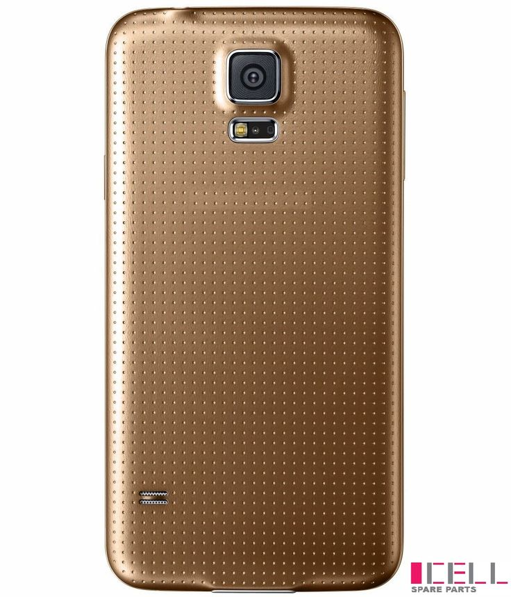 Protect your #Samsung #galaxyS5 from unwanted scratches with back cover gold. #Smartphone #Android #Mobilephone