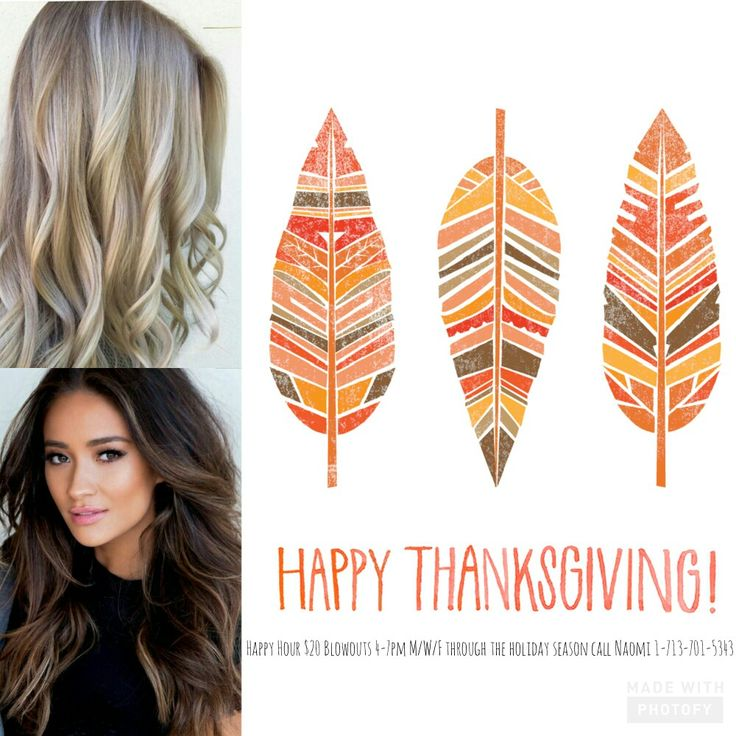 Happy Hour Holiday Hair $20 Blowouts m/w/f 4-7 pm call 17137015343 to book w naomi @electric blu eco hair bar houston, tx