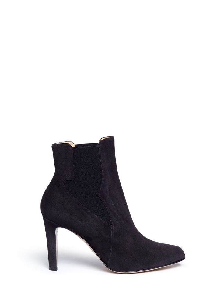 PAUL ANDREW 'Kamilla 85' wingtip gore suede ankle boots. #paulandrew #shoes #boots