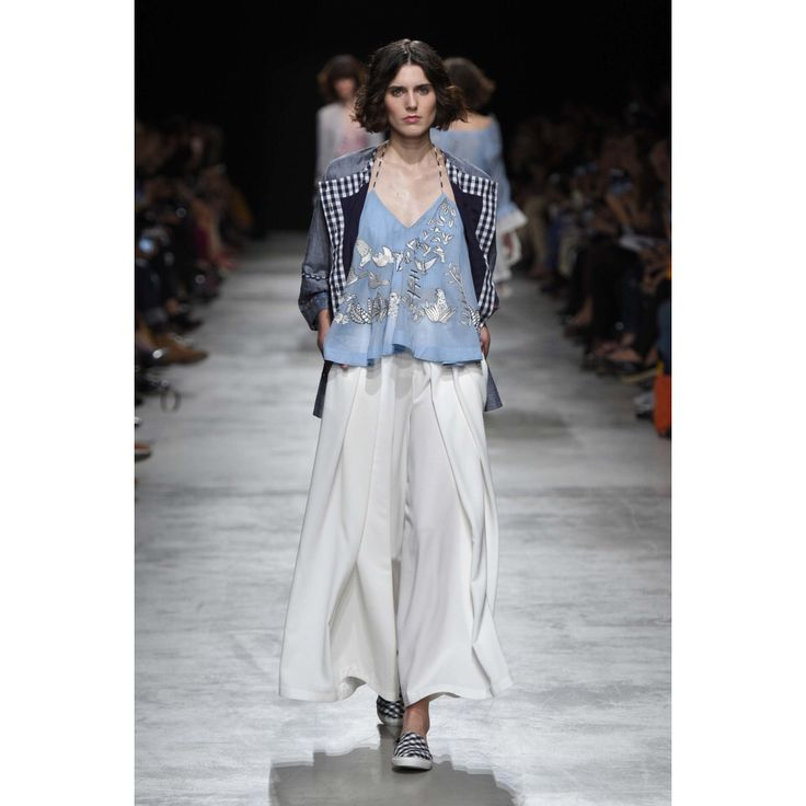 Rahul Mishra. #pstel #blue #white #skirt #fashion #Vogue #VogueRussia #readytowear #rtw #springsummer2017 #RahulMishra #VogueCollections
