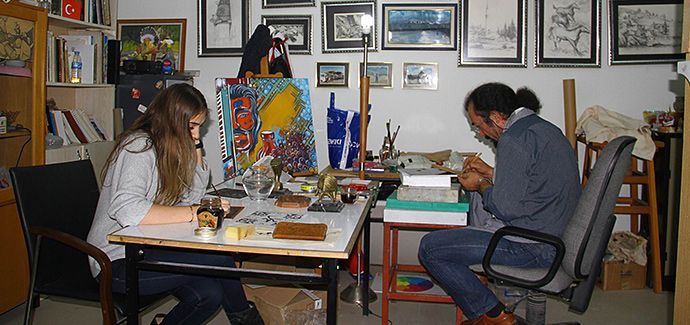 Kösele Derisinden Sanatsal Çalışmalar Göz Kamaştırıyor - Samsun Haber