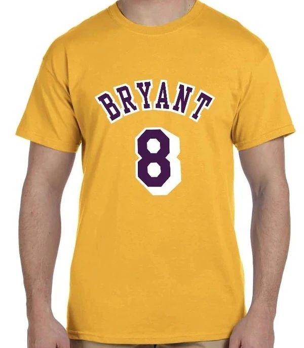 La Lakers Kobe Bryant T Shirt Number #8 #24 front & back Game ...